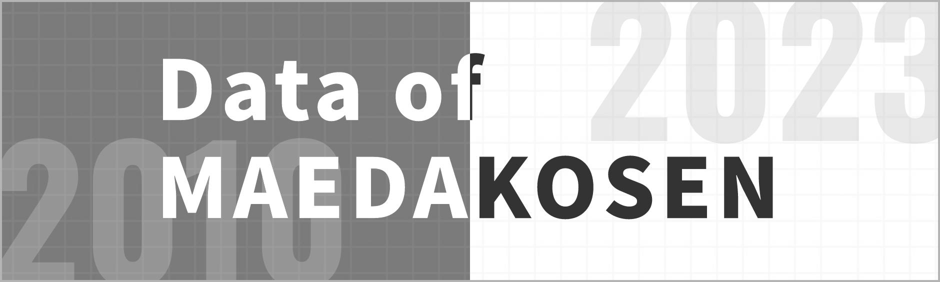 Data of MAEDAKOSEN