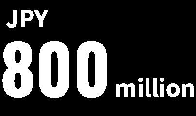 JPY 800 million