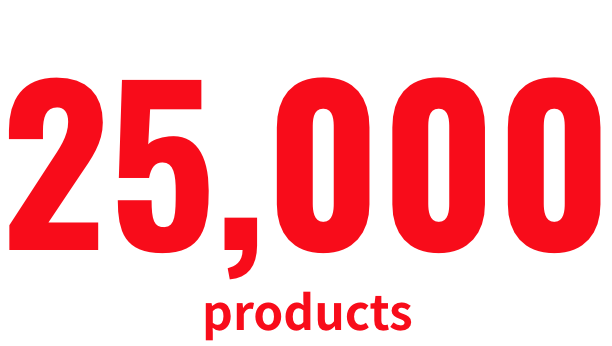 25,000 products