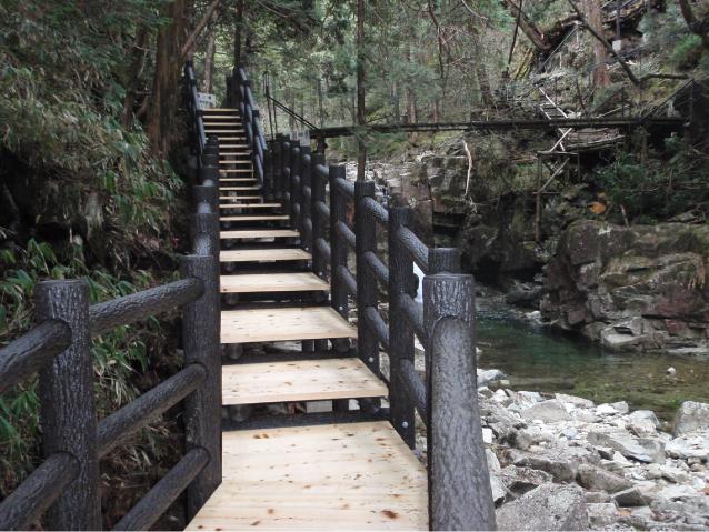 Natural park type deck (single pier wooden path, promenade)