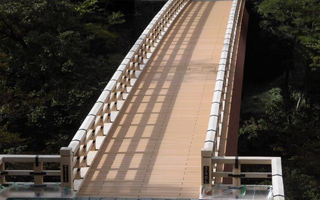 Natural park type footbridge
