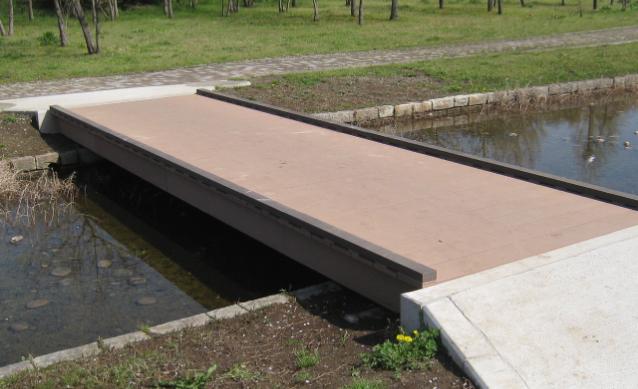 City park type footbridge